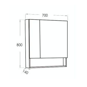 เฉพาะกระจกส่องหน้ามีตู้ LOFT