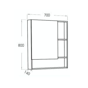เฉพาะกระจกส่องหน้าแบบตู้เก็บของ